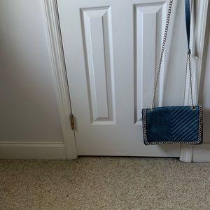 Handbags - Dasein Distressed Denim Shoulder Bags Chain Strap